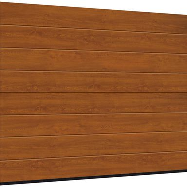 Brama garażowa segmentowa z napędem Isomatic 42 złoty dąb 2500x2125 mm Hormann