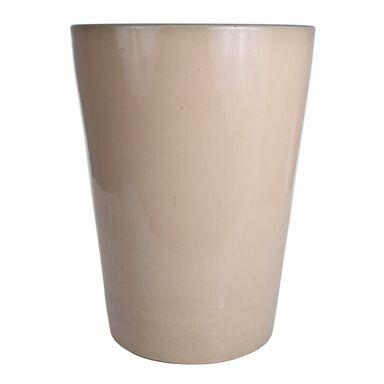 Donica ceramiczna 42 cm kremowa
