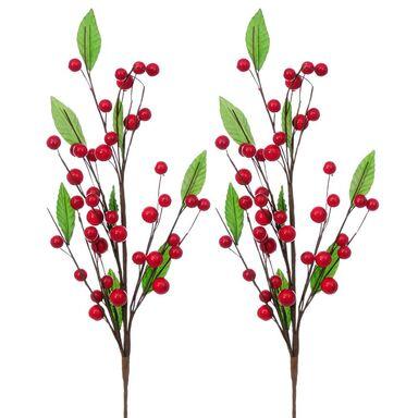Gałązka dzikiej róży 55 cm 2 szt.
