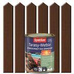 Olej zewnętrzny TARASY-MEBLE szybkoschnący 0.75 l Brąz ciemny SYNTILOR