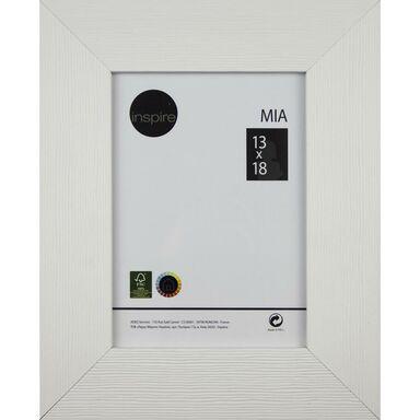 Ramka na zdjęcia MIA 13 x 18 cm biała drewniana INSPIRE