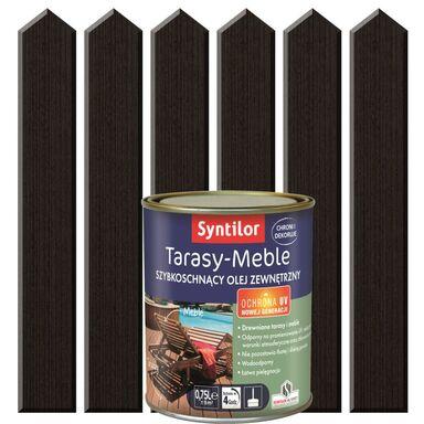 Olej zewnętrzny TARASY-MEBLE szybkoschnący 0.75 l Dąb palony SYNTILOR