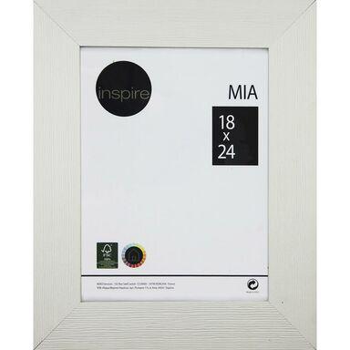 Ramka na zdjęcia Mia 18 x 24 cm biała drewniana Inspire