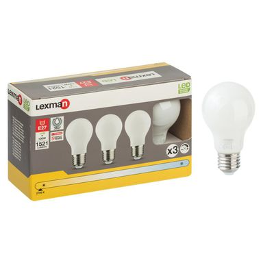 Żarówka LED E27 3 szt. (230 V) 11 W 1521 lm Ciepła biel LEXMAN