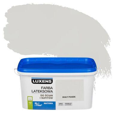 Farba wewnętrzna EMULSJA 5 l Biały piasek LUXENS