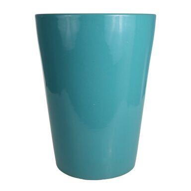 Donica ceramiczna 34 cm turkusowa