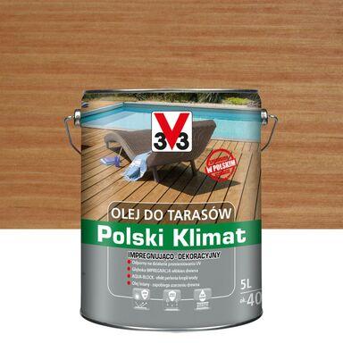 Olej do tarasów Polski Klimat 5 l teak V33