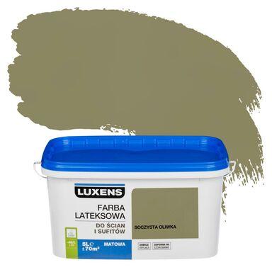 Farba wewnętrzna do ścian i sufitów EMULSJA 5 l Soczysta oliwka LUXENS