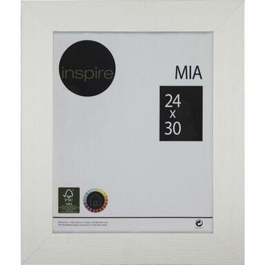 Ramka na zdjęcia Mia 24 x 30 cm biała drewniana Inspire