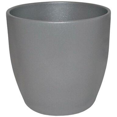 Doniczka ceramiczna 18 cm szara EMI CERAMIK