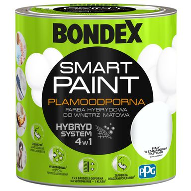 Farba wewnętrzna SMART PAINT Biały w szampańskim nastroju 2.5 l BONDEX