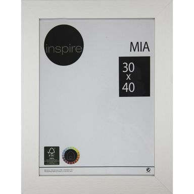 Ramka na zdjęcia MIA 30 x 40 cm biała MDF INSPIRE