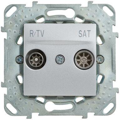 Gniazdo RTV / SAT końcowe UNICA  aluminium  SCHNEIDER ELECTRIC