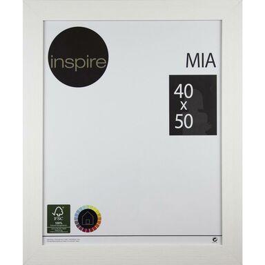 Ramka na zdjęcia Mia 40 x 50 cm biała drewniana Inspire