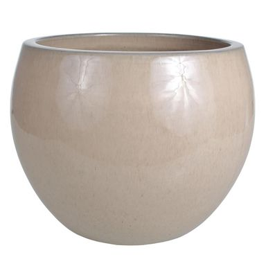 Donica ceramiczna 48 cm kremowa