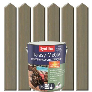 Olej zewnętrzny TARASY-MEBLE szybkoschnący 5 l Szary SYNTILOR