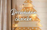Drewniana choinka DIY