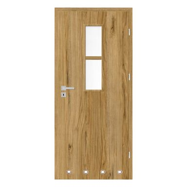 Skrzydło drzwiowe z tulejami wentylacyjnymi Mila Dąb catania 70 Prawe Nawadoor