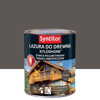 Lazura do drewna Xylodhone HP 1 l  Antracyt Syntilor