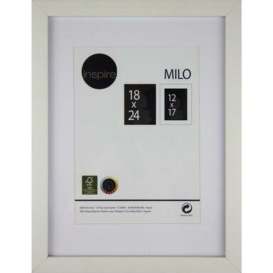 Ramka na zdjęcia MILO 18 x 24 cm biała MDF INSPIRE