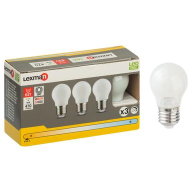 Żarówka LED E27 3 szt. (230 V) 4.5 W 470 lm Ciepła biel LEXMAN