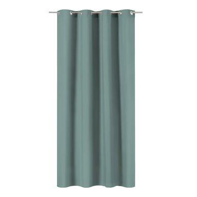 Zasłona Pharell zielona 140 x 280 cm na przelotkach Inspire