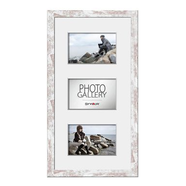 Multiramka NARVIK na 3 zdjęcia 34 x 45 cm shabby MDF