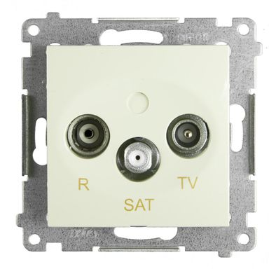 Gniazdo RTV / SAT końcowe SIMON54  kremowy  KONTAKT SIMON