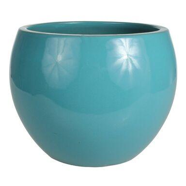 Donica ceramiczna 38 cm turkusowa