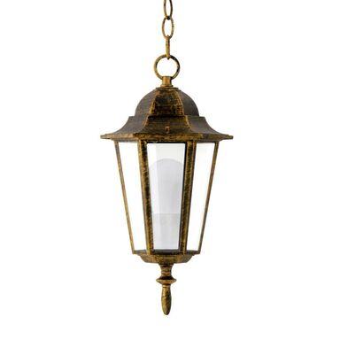 Lampa ogrodowa wisząca LIGURIA IP44 stare złoto E27 POLUX
