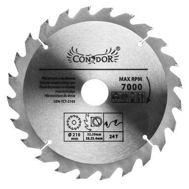 Tarcza do drewna CON-TCT-2102 śr. 210 mm  24 z CONDOR