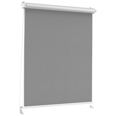 Roleta zaciemniająca Silver Click 43.5 x 150 cm grafitowa termoizolacyjna