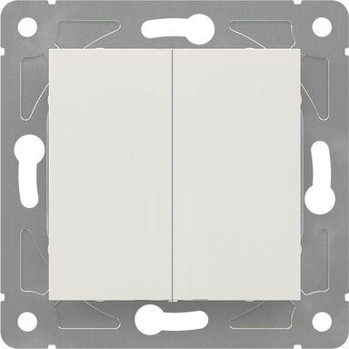 Włącznik podwójny EDG1006W  biały  LEXMAN