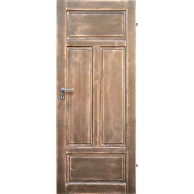 Skrzydło drzwiowe pełne drewniane VERONA Jasny orzech 80 Prawe RADEX