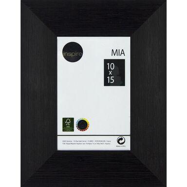 Ramka na zdjęcia Mia 10 x 15 cm czarna drewniana Inspire
