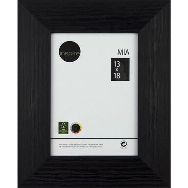 Ramka na zdjęcia MIA 13 x 18 cm czarna drewniana INSPIRE