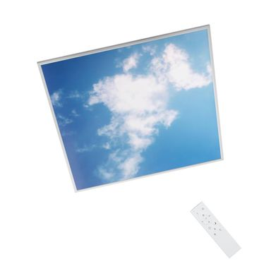 Panel LED GDAŃSK IP20 60 x 60 cm z efektem nieba  + pilot INSPIRE