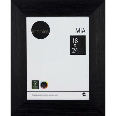 Ramka na zdjęcia MIA 18 x 24 cm czarna drewniana INSPIRE