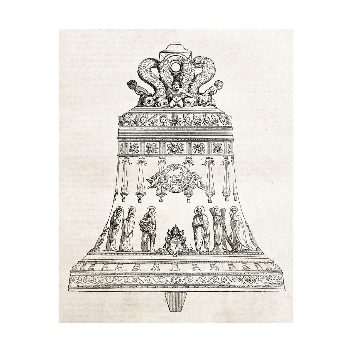 Plakat Dzwon Szkic 40 X 50 Cm