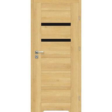 Skrzydło drzwiowe z podcięciem wentylacyjnym Etna Nero Dąb piaskowy 60 Prawe Artens