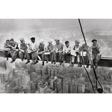 Plakat MANHATTAN STEELWORKERS 91.5 x 61 cm