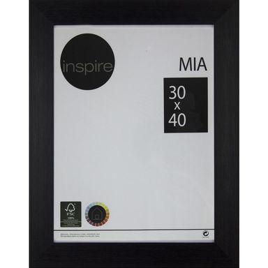 Ramka na zdjęcia Mia 30 x 40 cm czarna drewniana Inspire