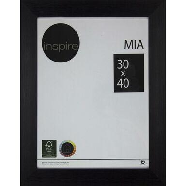 Ramka na zdjęcia MIA 30 x 40 cm czarna MDF INSPIRE