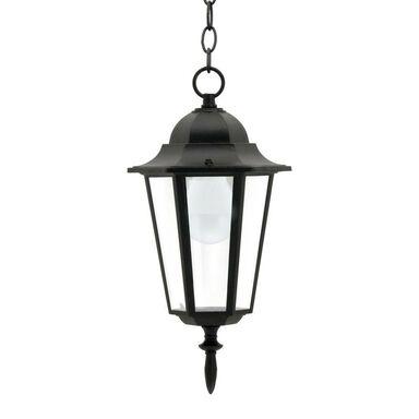 Lampa ogrodowa wisząca LIGURIA IP43 czarna E27 POLUX