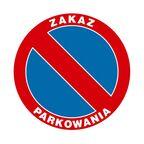 Znak informacyjny ZAKAZ PARKOWANIA 25 x 25 cm