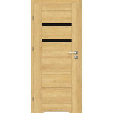 Skrzydło drzwiowe z podcięciem wentylacyjnym Etna Nero Dąb piaskowy 80 Lewe Artens