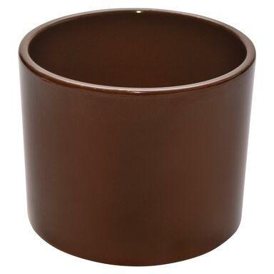Osłonka ceramiczna 32 cm brązowa WALEC CERAMIK