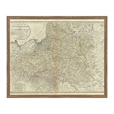 Obraz MAPA POLSKI 53 x 43 cm KNOR