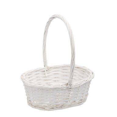 e0740466a39495 Koszyczek wielkanocny z rattanu biały wys. 25 cm HANMAR - Dekoracje ...
