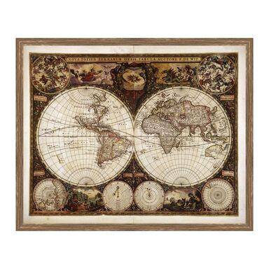 Obraz MAPA ŚWIATA 53 x 43 cm